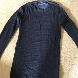 Waffle weave Vince navy blue sweater